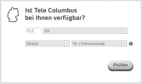 Tele-Columbus-Verfügbarkeitscheck