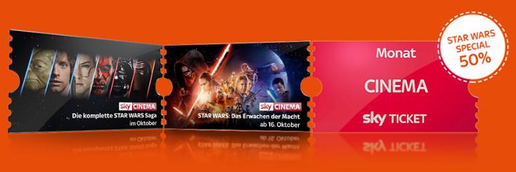 sky Ticket Cinema 50%