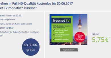 FreenetTV Aktion monatlich kündbar