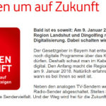 Abschaltung Vodafone Kabel analog