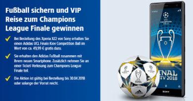 XPERIA XZ2 Gewinnspiel Champions League