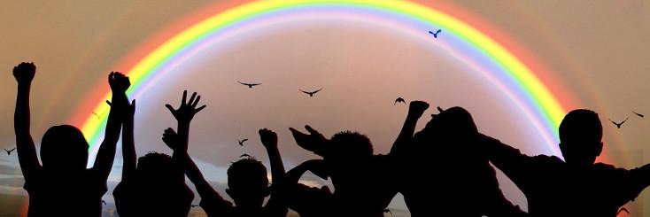 Kinder Regenbogen