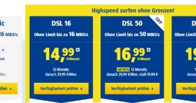 1&1 DSL ohne Limit