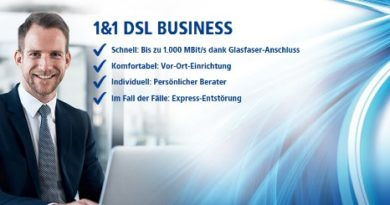 1&1 Business DSL Glasfaser