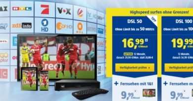 1&1 DSL IP TV