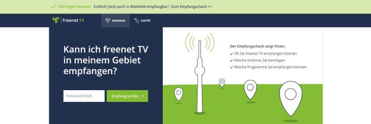 Freenet TV Empfangsgebiete