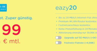 Eazy Internet 11,99 Euro