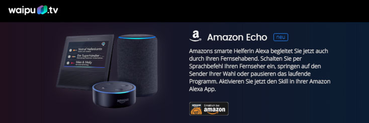 Waipu TV Amazon Echo Alexa