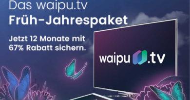 waipu.tv Früh-Jahrespaket