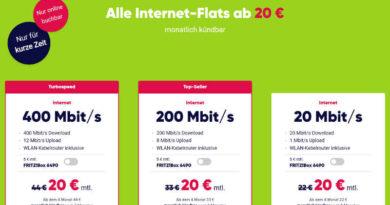 PŸUR Alle Internet-Flats ab 20 Euro