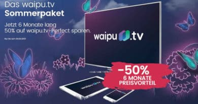 waipu TV Sommeraktion