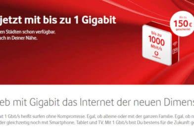 Highspeed-Netz wächst – Neue Gigabit-Anschlüsse von Vodafone realisiert