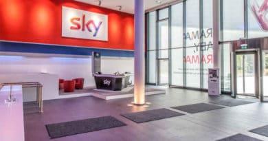 sky Empfang Firmensitz