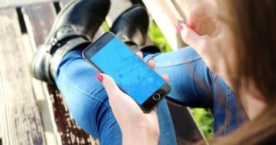 smartphone blau