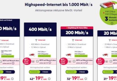PŸUR-Angebot für Neukunden – Internet-Tarife für 19,50€ in den ersten 6 Monaten