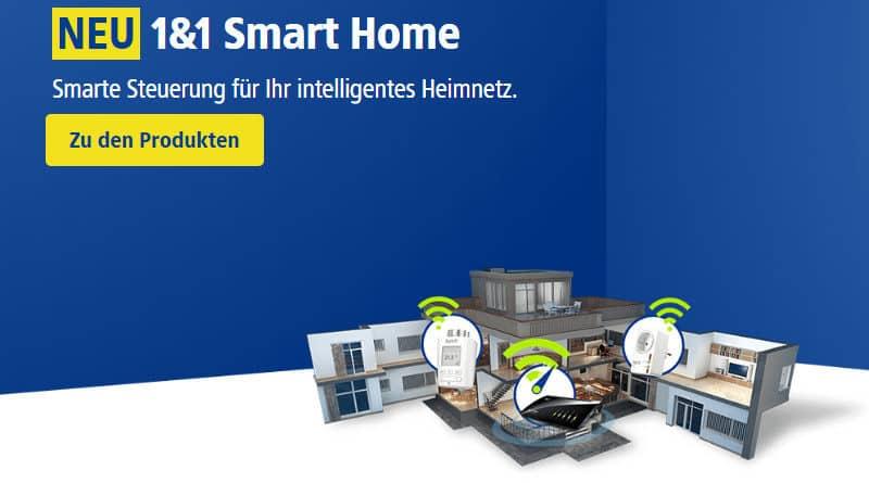 Smart-Home-Produkte jetzt auch von 1&1