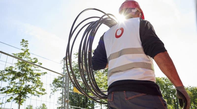Vodafone Kabel Bauarbeiter