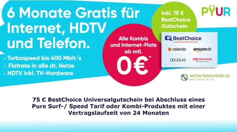 PYUR Aktion 75 Euro Gutschein