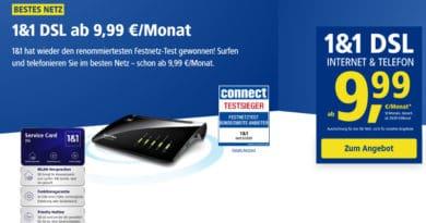 1&1 DSL ab 9,99 Euro
